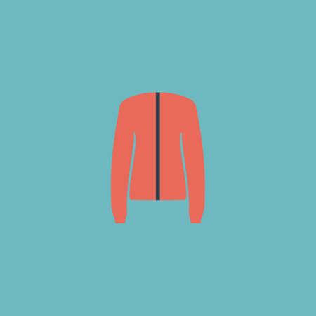Jacket. Colorful vector icon. Simple retro color modern illustration pictogram.