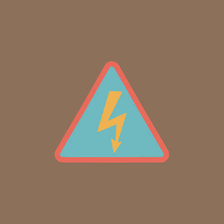 volte: High voltage Colorful vector icon. Simple retro color modern illustration pictogram.