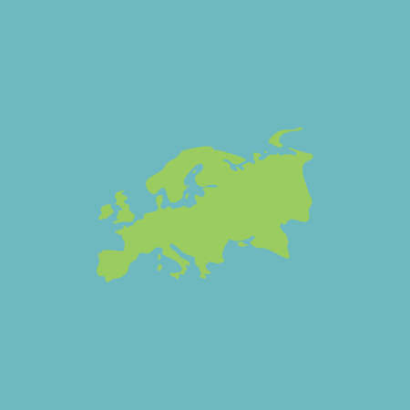 eurasia: Eurasia map. Colorful vector icon. Simple retro color modern illustration pictogram.  Illustration