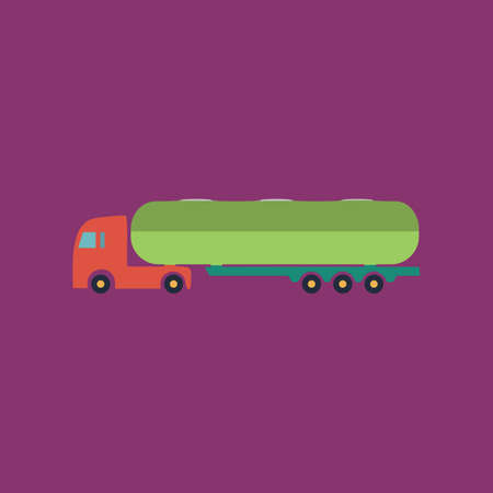 waggon: Tank car. Trailer Colorful vector icon. Simple retro color modern illustration pictogram.