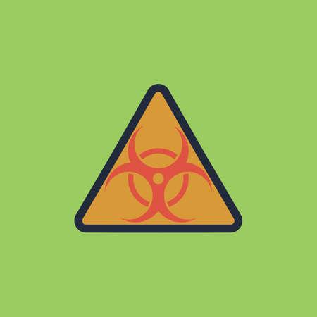 Biohazard. icono del vector de colorido. Sencilla de color retro moderno ilustración pictograma. Foto de archivo - 49238605