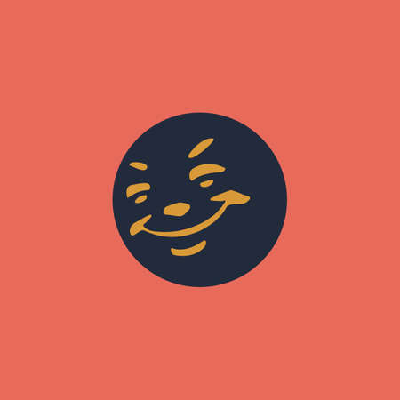 friendliness: Smile. Colorful vector icon. Simple retro color modern illustration pictogram.  Illustration