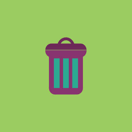 reusing: Urn. Colorful vector icon. Simple retro color modern illustration pictogram.