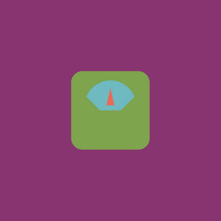 Weighting apparatus. Colorful vector icon. Simple retro color modern illustration pictogram.   イラスト・ベクター素材