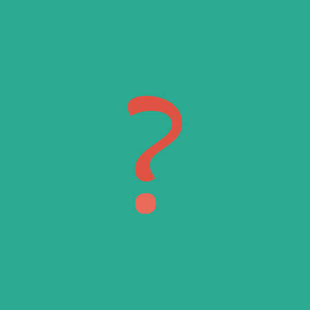 Question mark. Colorful vector icon. Simple retro color modern illustration pictogram.