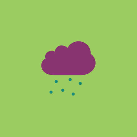atmospheric: Cloud with hail. Colorful vector icon. Simple retro color modern illustration pictogram.  Illustration