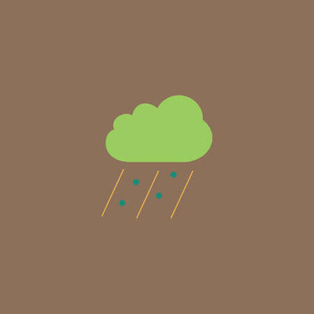 Cloud it is raining and hail. Colorful vector icon. Simple retro color modern illustration pictogram.  Illusztráció