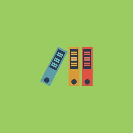 noticeable: Office folder. Colorful vector icon. Simple retro color modern illustration pictogram.  Illustration