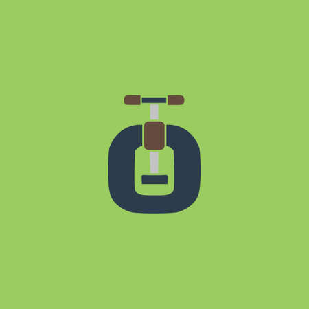 vices: Bench vices. Colorful vector icon. Simple retro color modern illustration pictogram. Illustration