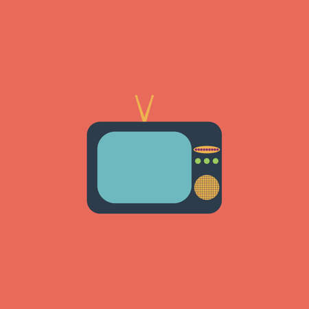 tvset: TV. Colorful vector icon. Simple retro color modern illustration pictogram. Collection concept symbol for infographic project and logo