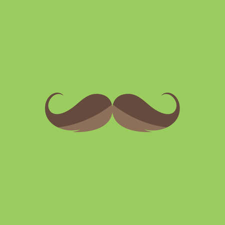 hair mask: Mustache. Colorful vector icon. Simple retro color modern illustration pictogram. Collection concept symbol for infographic project and logo Illustration