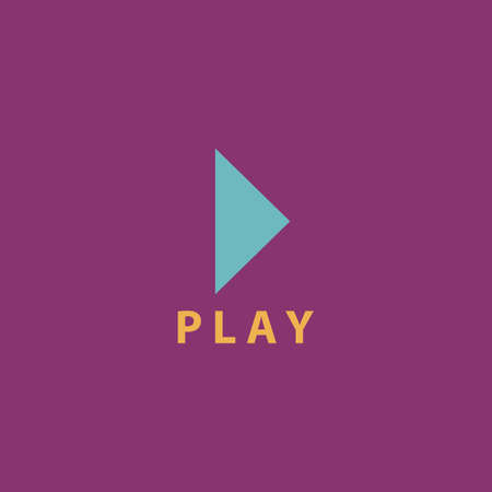 off the record: Play button. Colorful vector icon. Simple retro color modern illustration pictogram. Collection concept symbol for infographic project and logo