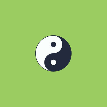 ying yan: Ying yang symbol of harmony and balance. Colorful vector icon. Simple retro color modern illustration pictogram. Collection concept symbol for infographic project and logo