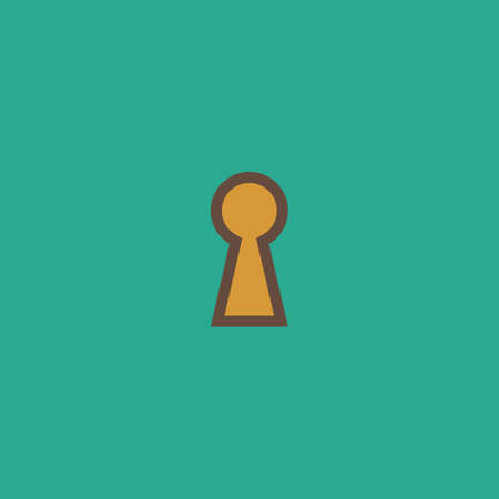 Keyhole. Colorful vector icon. Simple retro color modern illustration pictogram. Collection concept symbol for infographic project and logo
