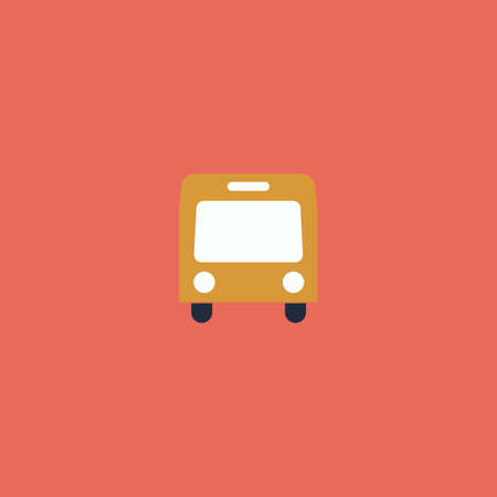 simple logo: Simple Bus. Colorful vector icon. Simple retro color modern illustration pictogram. Collection concept symbol for infographic project and logo