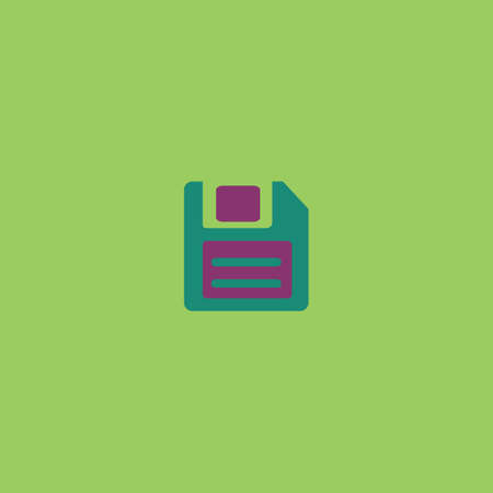 salvaging: Magnetic floppy disc for computer data storage. Colorful vector icon. Simple retro color modern illustration pictogram. Collection concept symbol for infographic project and logo