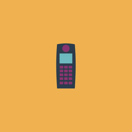 Retro mobile phone. Colorful vector icon. Simple retro color modern illustration pictogram. Collection concept symbol for infographic project and logo