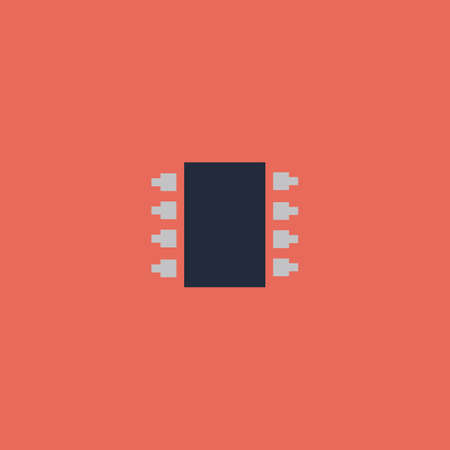 micro drive: Microchip. Colorful vector icon. Simple retro color modern illustration pictogram. Collection concept symbol for infographic project and logo