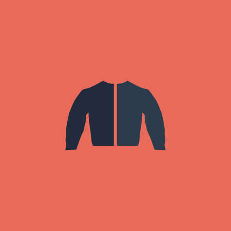 fur hood: Sports jacket. Colorful vector icon. Simple retro color modern illustration pictogram. Collection concept symbol for infographic project and logo