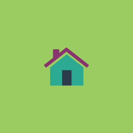 Small house. Colorful vector icon. Simple retro color modern illustration pictogram. Collection concept symbol for infographic project and logo Stock Illustratie