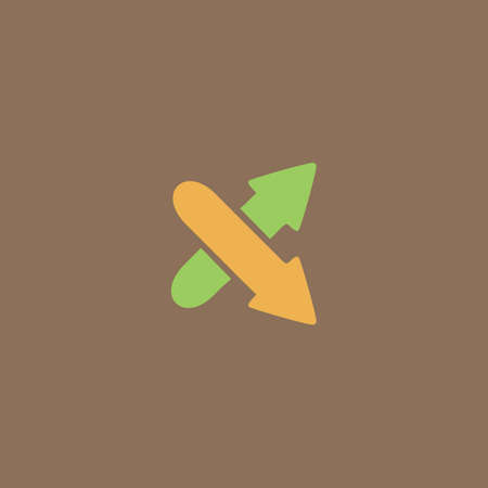 oppositional: Two arrows. Direction sign. Colorful vector icon. Simple retro color modern illustration pictogram. Collection concept symbol for infographic project and logo