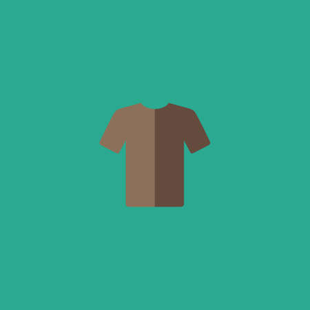 office wear: Tshirt. Colorful vector icon. Simple retro color modern illustration pictogram. Collection concept symbol for infographic project and logo