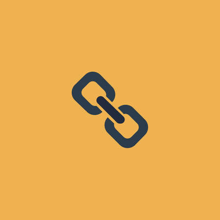 chain link: Link. Colorful vector icon. Simple retro color modern illustration pictogram. Collection concept symbol for infographic project and logo