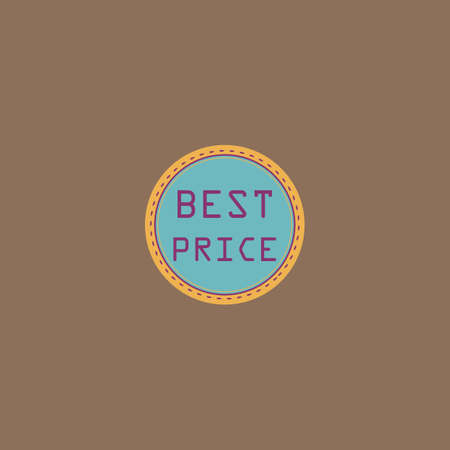 price uncertainty: Best Price Badge Label or Sticker. Colorful vector icon. Simple retro color modern illustration pictogram. Collection concept symbol for infographic project and logo