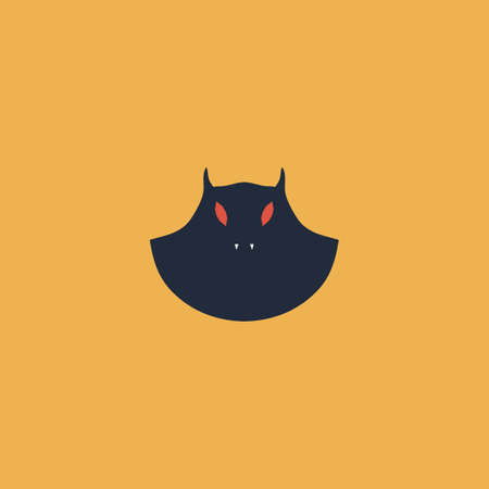 Executioner evil face mask. Colorful vector icon. Simple retro color modern illustration pictogram. Collection concept symbol for infographic project and logo Illustration