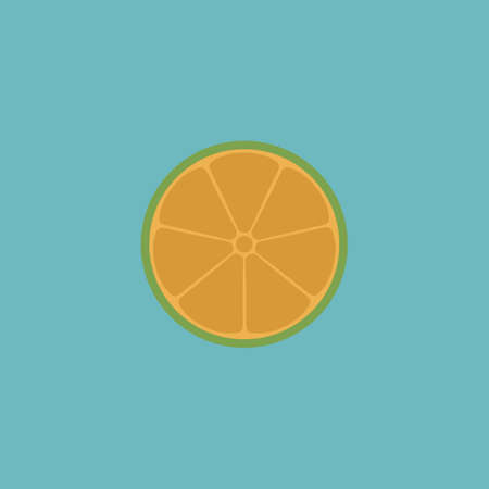 vitamine: Half of lemon. Colorful vector icon. Simple retro color modern illustration pictogram. Collection concept symbol for infographic project and logo