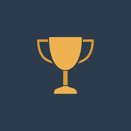 Trophy. Colorful vector icon. Simple retro color modern illustration pictogram. Collection concept symbol for infographic project and logo  イラスト・ベクター素材