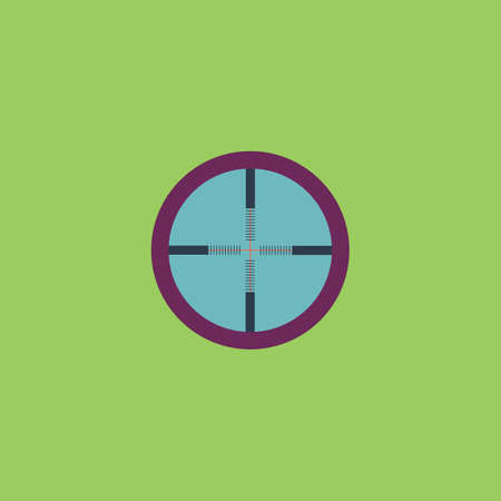 crosshair: Crosshair. Colorful vector icon. Simple retro color modern illustration pictogram. Collection concept symbol for infographic project Illustration