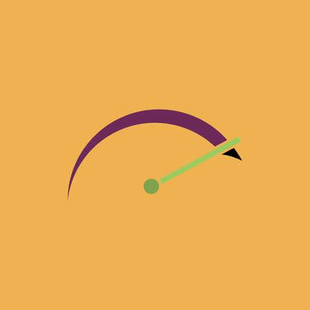 tachometer: Tachometer. Colorful vector icon. Simple retro color modern illustration pictogram. Stock Photo