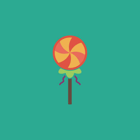 hard stuff: Simple candy. Colorful vector icon. Simple retro color modern illustration pictogram.