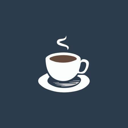 Cup of coffe. Colorful vector icon. Simple retro color modern illustration pictogram.