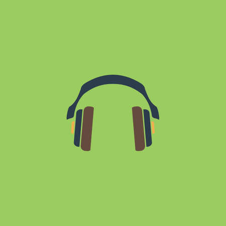 tercet: Retro headphone. Colorful vector icon. Simple retro color modern illustration pictogram. Collection concept symbol for infographic project and logo Illustration