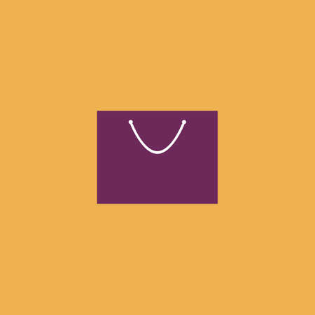simple store: Simple shopping bag. Colorful vector icon. Simple retro color modern illustration pictogram. Collection concept symbol for infographic project Illustration