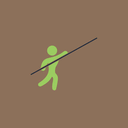 pole vault: Pole vault athlete. Colorful vector icon. Simple retro color modern illustration pictogram. Collection concept symbol for infographic project