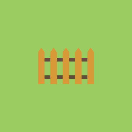 symbol fence: Fence icon. Colorful vector icon. Simple retro color modern illustration pictogram. Collection concept symbol for infographic project