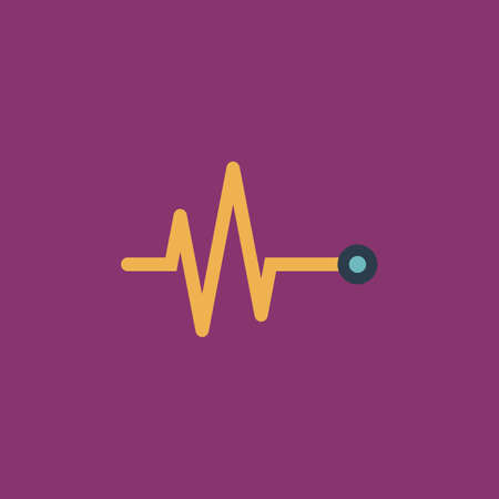 simple life: Life line - Heart beat, cardiogram. Colorful vector icon. Simple retro color modern illustration pictogram. Collection concept symbol for infographic project