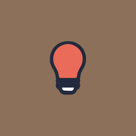 led lamp: Led lamp. Colorful vector icon. Simple retro color modern illustration pictogram. Collection concept symbol for infographic project