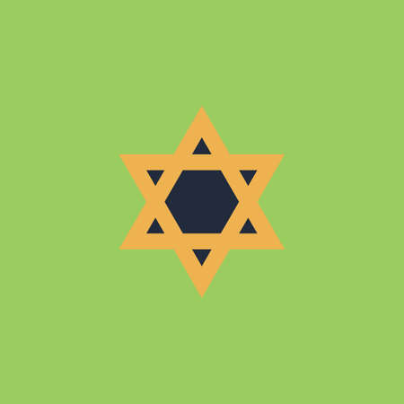 Star of David. Colorful vector icon. Simple retro color modern illustration pictogram. Collection concept symbol for infographic project