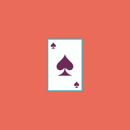 wager: Spades card. Colorful vector icon. Simple retro color modern illustration pictogram. Collection concept symbol for infographic project Illustration