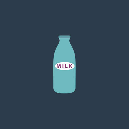 low cal: Milk bottle. Colorful vector icon. Simple retro color modern illustration pictogram. Collection concept symbol for infographic project