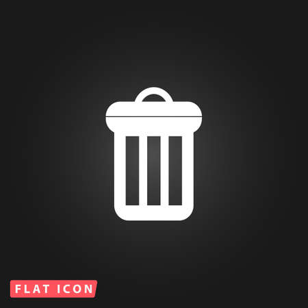 scrapyard: Urn. White flat simple vector icon on black background