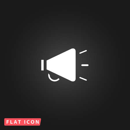 mouthpiece: Simple mouthpiece. White flat simple vector icon on black background