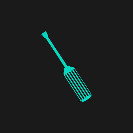 turn the screw: Screwdriver. Flat simple modern illustration pictogram. Collection concept symbol for infographic project