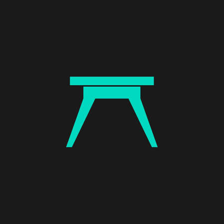 Small table. Flat simple modern illustration pictogram. Collection concept symbol for infographic project