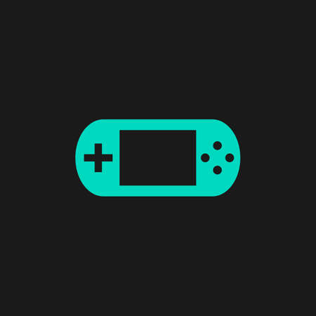 handheld device: Handheld game console. Flat simple modern illustration pictogram. Collection concept symbol for infographic project