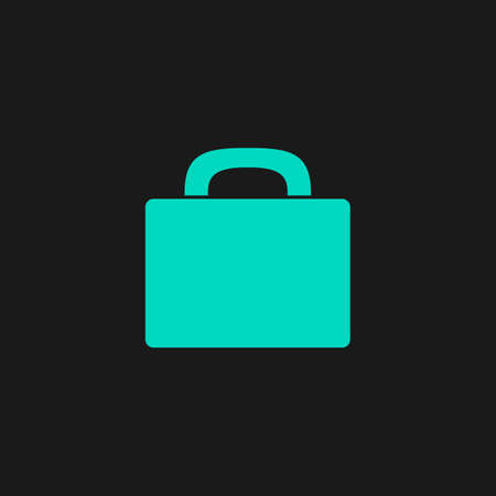school kit: Suitcase. Flat simple modern illustration pictogram. Collection concept symbol for infographic project